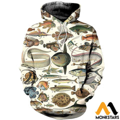 3D All Over Printed Ancient Fish Shirts And Shorts Normal Hoodie / Xs Clothes
