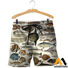 3D All Over Printed Ancient Fish Shirts And Shorts / Xs Clothes
