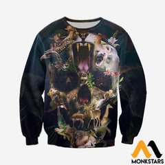 3D All Over Printed Animal Skull Shirts And Shorts Long-Sleeved Shirt / Xs Clothes