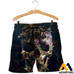 3D All Over Printed Animal Skull Shirts And Shorts / Xs Clothes