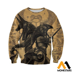 3D All Over Printed Anubis And Osiris Shirts Shorts Long-Sleeved Shirt / Xs Clothes