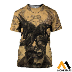 3D All Over Printed Anubis And Osiris Shirts Shorts T-Shirt / Xs Clothes