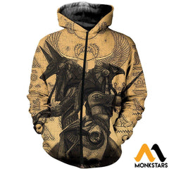 3D All Over Printed Anubis And Osiris Shirts Shorts Zipped Hoodie / Xs Clothes