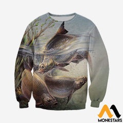3D All Over Printed Art Fishing Shirts And Shorts Long-Sleeved Shirt / Xs Clothes