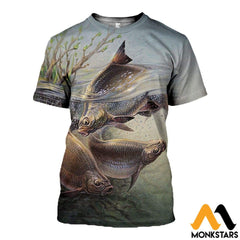 3D All Over Printed Art Fishing Shirts And Shorts T-Shirt / Xs Clothes