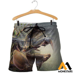 3D All Over Printed Art Fishing Shirts And Shorts / Xs Clothes