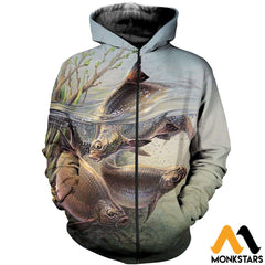 3D All Over Printed Art Fishing Shirts And Shorts Zipped Hoodie / Xs Clothes