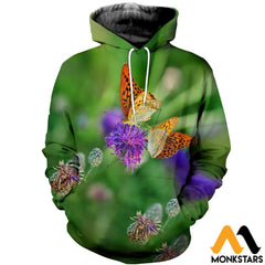 3D All Over Printed Awesome Butterflies T-Shirt Hoodie Scdk1004014 / Xs Clothes