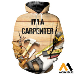 3D All Over Printed Awesome Carpenter T-Shirt Hoodie Sauk190410 Normal / Xs Clothes