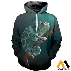 3D All Over Printed Awesome Chameleon T-Shirt Hoodie Aduk260401 Normal / Xs Clothes