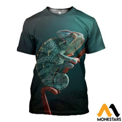 3D All Over Printed Awesome Chameleon T-Shirt Hoodie Aduk260401 / Xs Clothes