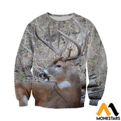 3D All Over Printed Awesome Deer Clothes Long-Sleeved Shirt / Xs
