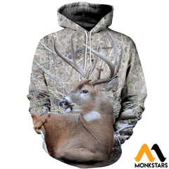3D All Over Printed Awesome Deer Clothes Normal Hoodie / Xs
