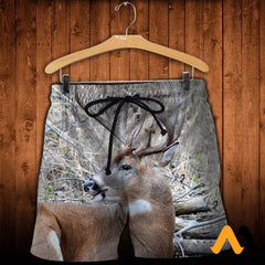 3D All Over Printed Awesome Deer Clothes Shorts / Xs