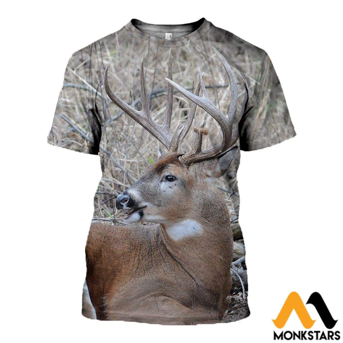 3D All Over Printed Awesome Deer Clothes T-Shirt / Xs