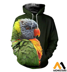 3D All Over Printed Awesome Parrot T-Shirt Hoodie St0K230406 Normal / Xs Clothes