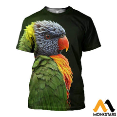 3D All Over Printed Awesome Parrot T-Shirt Hoodie St0K230406 / Xs Clothes