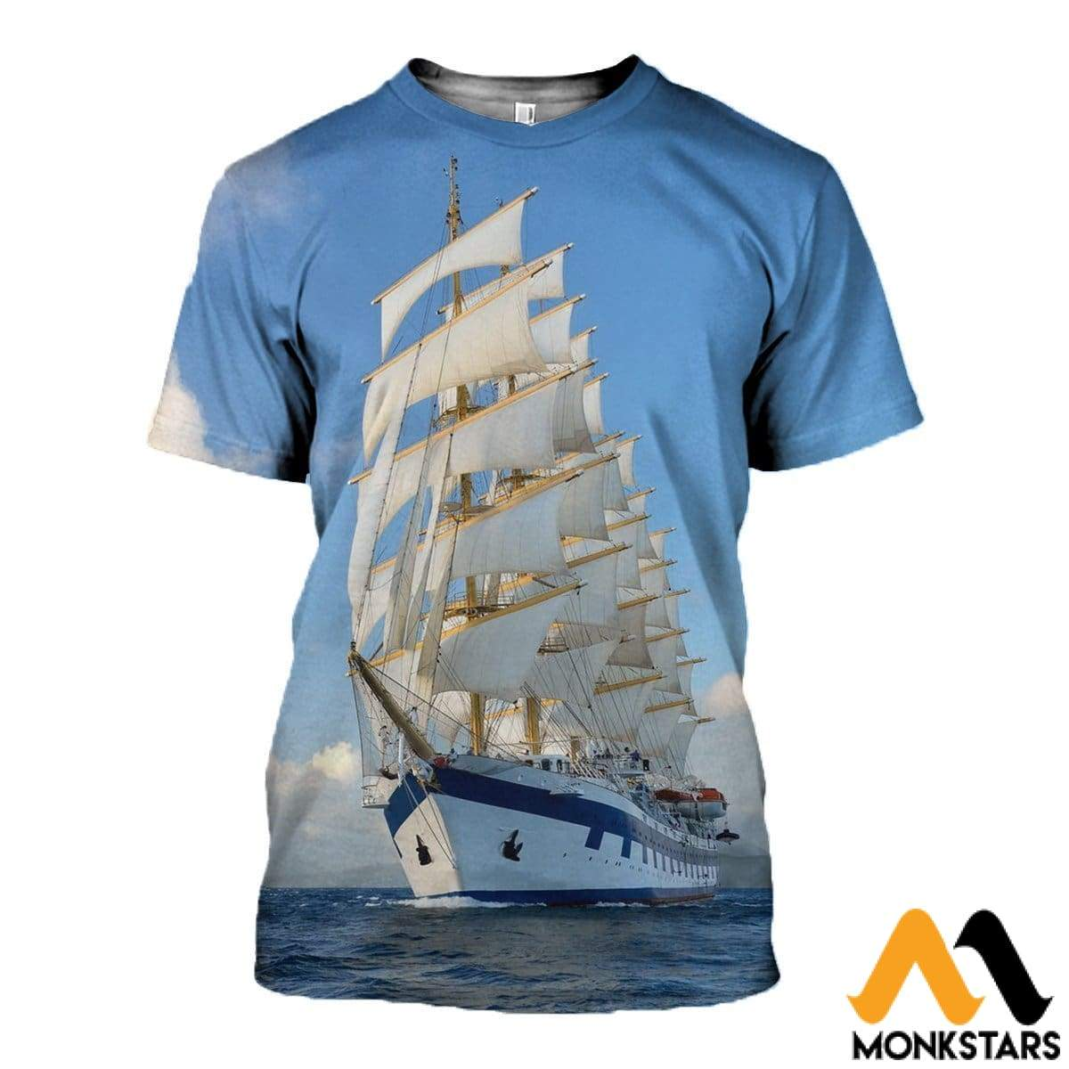 3D All Over Printed Awesome Ship T-Shirt Hoodie St0K130409 / Xs Clothes