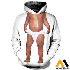 3D All Over Printed Baby Boy Tops Normal Hoodie / Xs Clothes