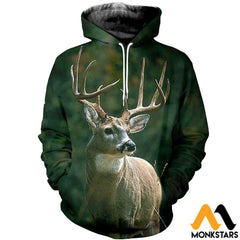 3D All Over Printed Baby Deer T-Shirt Hoodie Aduk190420 Normal / Xs Clothes