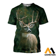 3D All Over Printed Baby Deer T-Shirt Hoodie Aduk190420 / Xs Clothes
