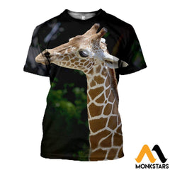 3D All Over Printed Baby Graffe T-Shirt Hoodie Sctk100420 / Xs Clothes