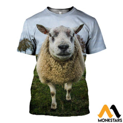 3D All Over Printed Baby Sheep T-Shirt Hoodie Scuk200412 / Xs Clothes