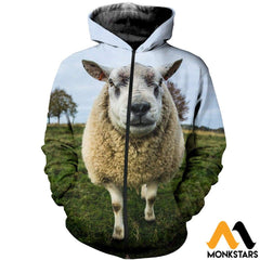 3D All Over Printed Baby Sheep T-Shirt Hoodie Scuk200412 Zipped / Xs Clothes