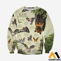 3D All Over Printed Bats Of The World Shirts And Shorts Long-Sleeved Shirt / Xs Clothes