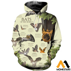 3D All Over Printed Bats Of The World Shirts And Shorts Normal Hoodie / Xs Clothes