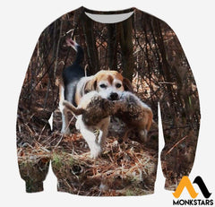 3D All Over Printed Beagle And Rabbit Clothes Long-Sleeved Shirt / Xs