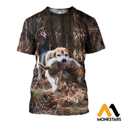 3D All Over Printed Beagle And Rabbit Clothes T-Shirt / Xs