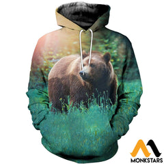 3D All Over Printed Bear T-Shirt Hoodie Sntl100404 / Xs Clothes