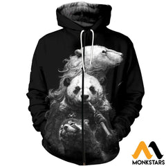 3D All Over Printed Bears T-Shirt Hoodie Snal160411 Zipped / Xs Clothes