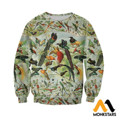 3D All Over Printed Beautiful Birds Shirts And Shorts Long-Sleeved Shirt / Xs Clothes