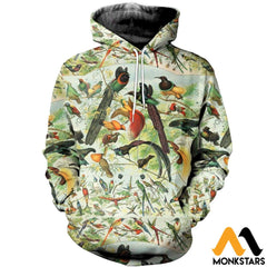 3D All Over Printed Beautiful Birds Shirts And Shorts Normal Hoodie / Xs Clothes