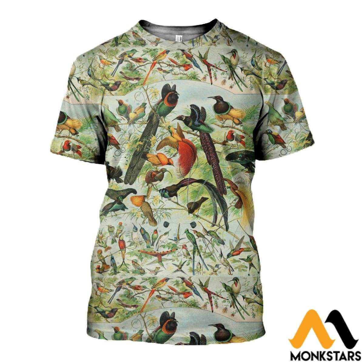3D All Over Printed Beautiful Birds Shirts And Shorts T-Shirt / Xs Clothes