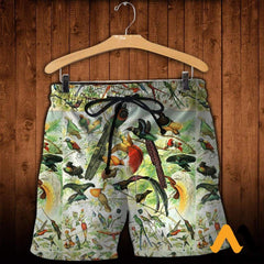 3D All Over Printed Beautiful Birds Shirts And Shorts / Xs Clothes