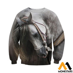 3D All Over Printed Beautiful Horse Art Shirts And Shorts Long-Sleeved Shirt / Xs Clothes