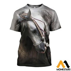 3D All Over Printed Beautiful Horse Art Shirts And Shorts T-Shirt / Xs Clothes