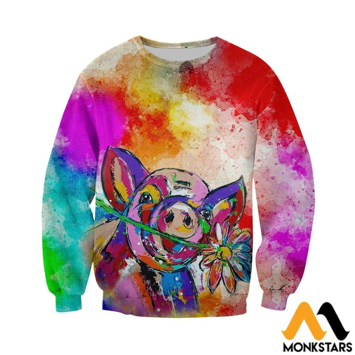 f5a4d1c7a42c 3D All Over Printed Beautiful Pig Shirts And Shorts - Monkstars Inc.