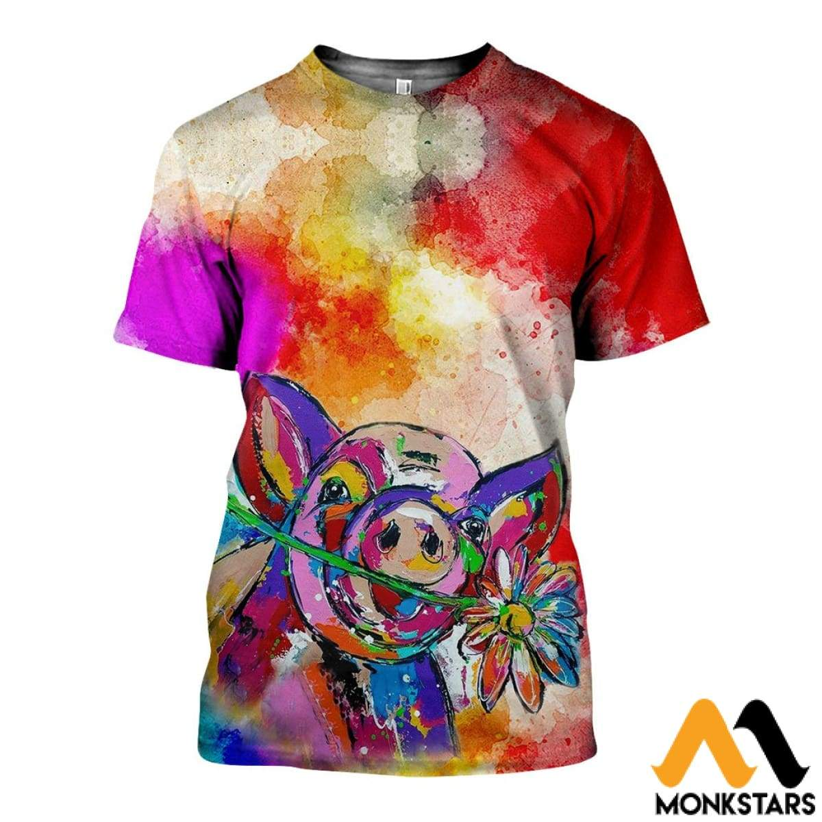 1552c943dcb0 3D All Over Printed Beautiful Pig Shirts And Shorts T-Shirt   Xs Clothes