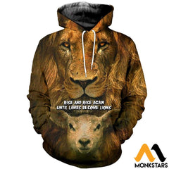 3D All Over Printed Becoming Lion T-Shirt Hoodie Sntk170406 Normal / Xs Clothes