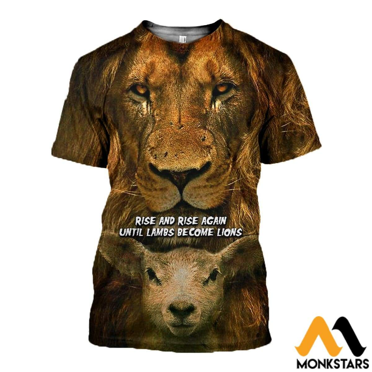 3D All Over Printed Becoming Lion T-Shirt Hoodie Sntk170406 / Xs Clothes