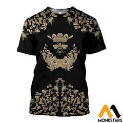 3D All Over Printed Bee Queen Shirts T-Shirt / Xs Clothes