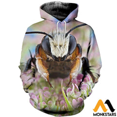 3D All Over Printed Bee T-Shirt Hoodie Satl250403 Normal / Xs Clothes