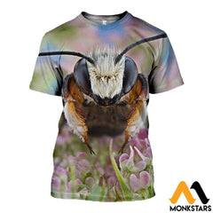 3D All Over Printed Bee T-Shirt Hoodie Satl250403 / Xs Clothes