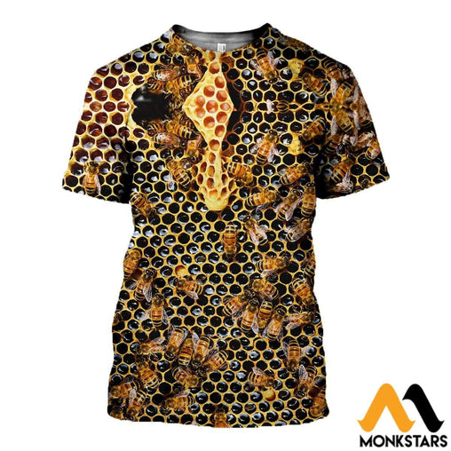 3D All Over Printed Bee Tops T-Shirt / Xs Clothes