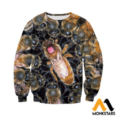 3D All Over Printed Bees Clothes Long-Sleeved Shirt / Xs