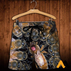 3D All Over Printed Bees Clothes Shorts / Xs